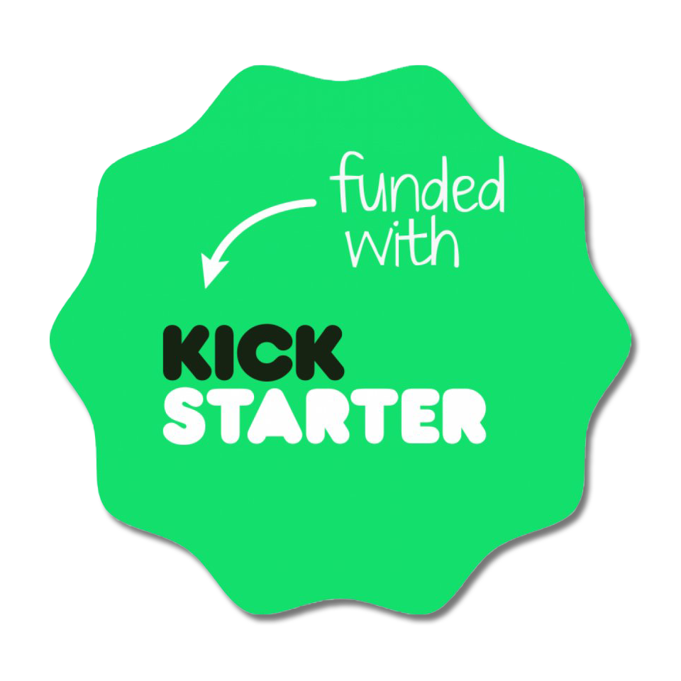 kickstarter crowdfunding badge