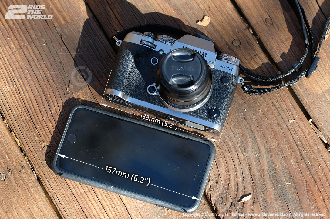 FUJIFILM X T2 size comparison dimmensions