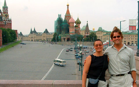 Russia-Playing tourist